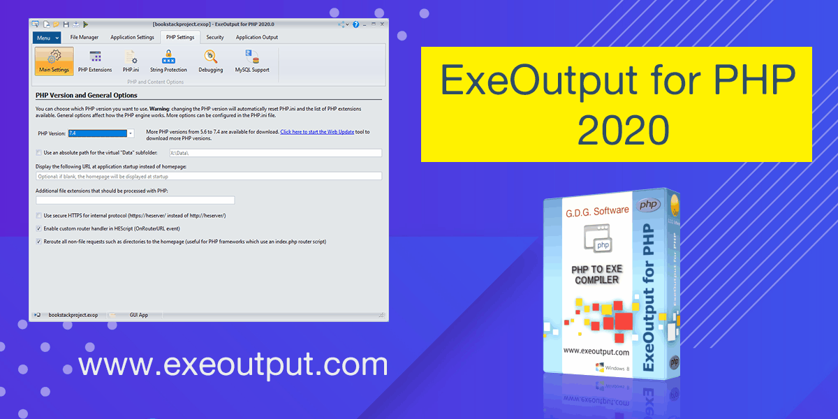 Update to our PHP compiler: ExeOutput for PHP 2020 is available