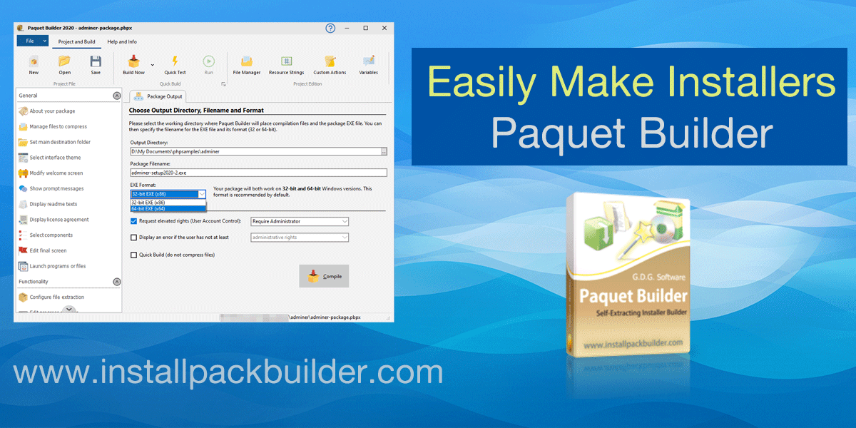 Installer software Paquet Builder 2020 released